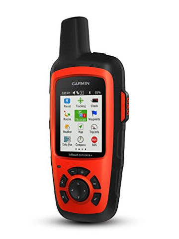 Garmin inReach Explorer+, Handheld Satellite Communicator with TOPO Maps and GPS Navigation (Renewed)
