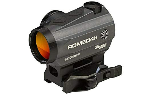 Sig Sauer Romeo4H Red Dot Sight Green Horseshoe Dot 0.5 MOA Graphite SOR43013, Black