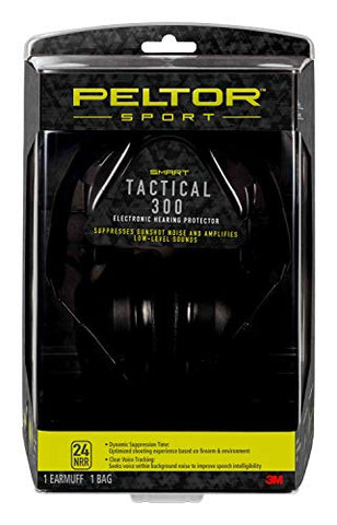 Peltor Sport Tactical 300 Smart Electronic Hearing Protector, Ear Protection, NRR 24 dB, Ideal for the Range, Shooting and Hunting, TAC300-OTH