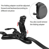 Taisioner Bicycle Motorcycle Helmet Chin Mount Strap for GoPro or Other Action Camera for VLOG/POV Shoot Accessory (Helmet Strap)