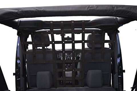 Dirtydog 4x4 Pet Divider Behind Front Seats - for Jeep JKU 4 Door - Black