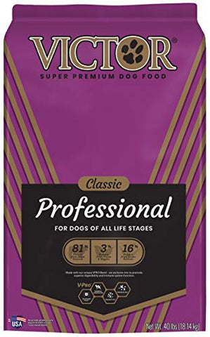 VICTOR Classic - Professional, Dry Dog Food 40 lbs