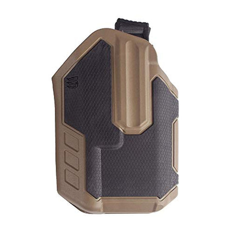 BLACKHAWK! Concealment 419002BCR Omnivore TLR 1/2 Light Bearing RH BK/CT, Tan, One Size