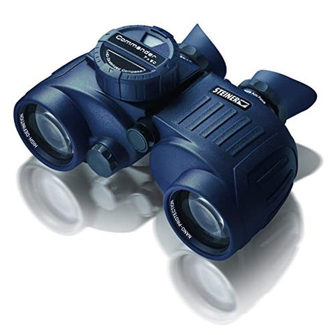 Steiner Commander 7x50c Binoculars with HD Stabalized Compass - Performance Marine Optics to Navigate Low Light or Fog