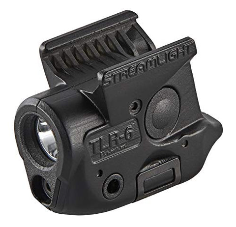 Streamlight 69284 TLR-6 Tactical Pistol Mount Flashlight 100 Lumen with Integrated Red Aiming Laser Designed Exclusively and Solely for Sig Sauer P365, Black