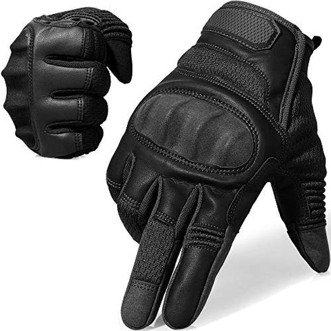 AXBXCX Touch Screen Full Finger Gloves for Motorcycles Cycling Motorbike ATV Bike Camping Climbing Hiking Work Outdoor Sports Men Women Black M