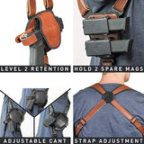 Alien Gear holsters ShapeShift Shoulder Holster (Brown Leather) Kimber Micro 9 (Right Handed) (9mm/.40 Cal Single Stack)