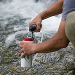 MSR TrailShot Pocket-Sized Water Filter for Hiking, Camping, Travel, and Emergency Preparedness