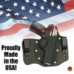 FoxX Holsters Compatible for Smith & Wesson M&P Shield EZ .380 IWB Hybrid Holster Tuckable, Concealed Carry Gun Holster (Black)