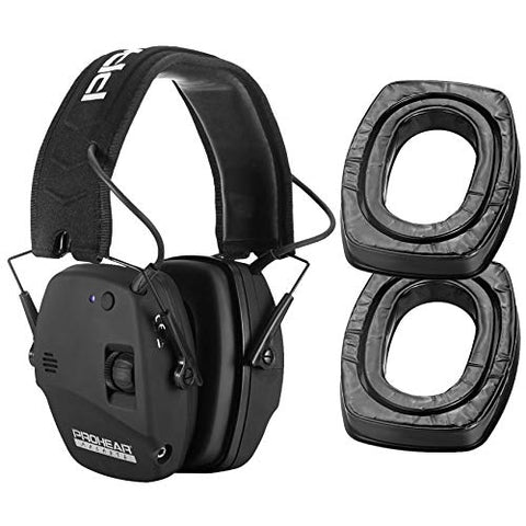 PROHEAR 030 Bluetooth Electronic Shooting Muffs & GEP02 Gel Ear Pads for Howard Leight by Honeywell Impact and PROHEAR 030 Earmuffs