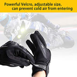 Galaxyman Touch Screen Motorcycle Full Finger Gloves for Biker Cycling Motorbike ATV Hunting Riding Climbing Work Sports Gloves with Hard Knuckle Protection Gloves(L)