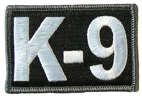 "K-9 Tactical Patch 2""x3"" - Black"