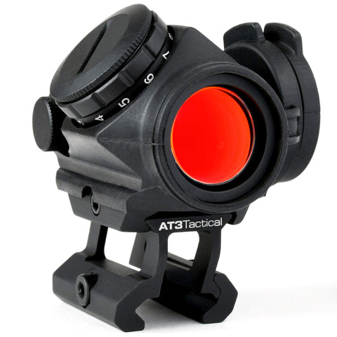 "AT3 Tactical RD-50 PRO Red Dot Sight with .83"" Riser - for Absolute Cowitness with Iron Sights - 2 MOA Compact Red Dot Scope"