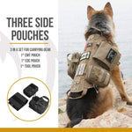 OneTigris Tactical Dog Molle Vest Harness Training Dog Vest with Detachable Pouches (Tan, Large)