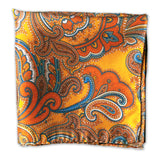Men's 100% Silk Pocket Square - The Carnaby