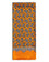 Men's Silk Paisley Scarf Orange with Brown Design - The Richmond