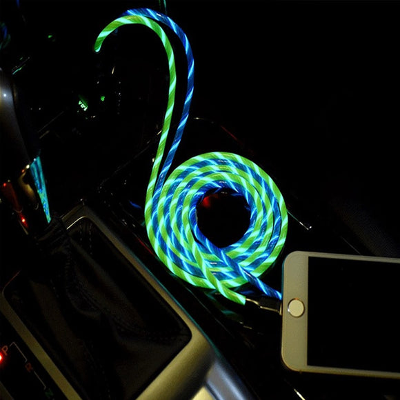 LED Luminous Flowing USB Charging Cable