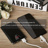 Portable Battery 20,000 mAh Power Bank with LED Flashlight