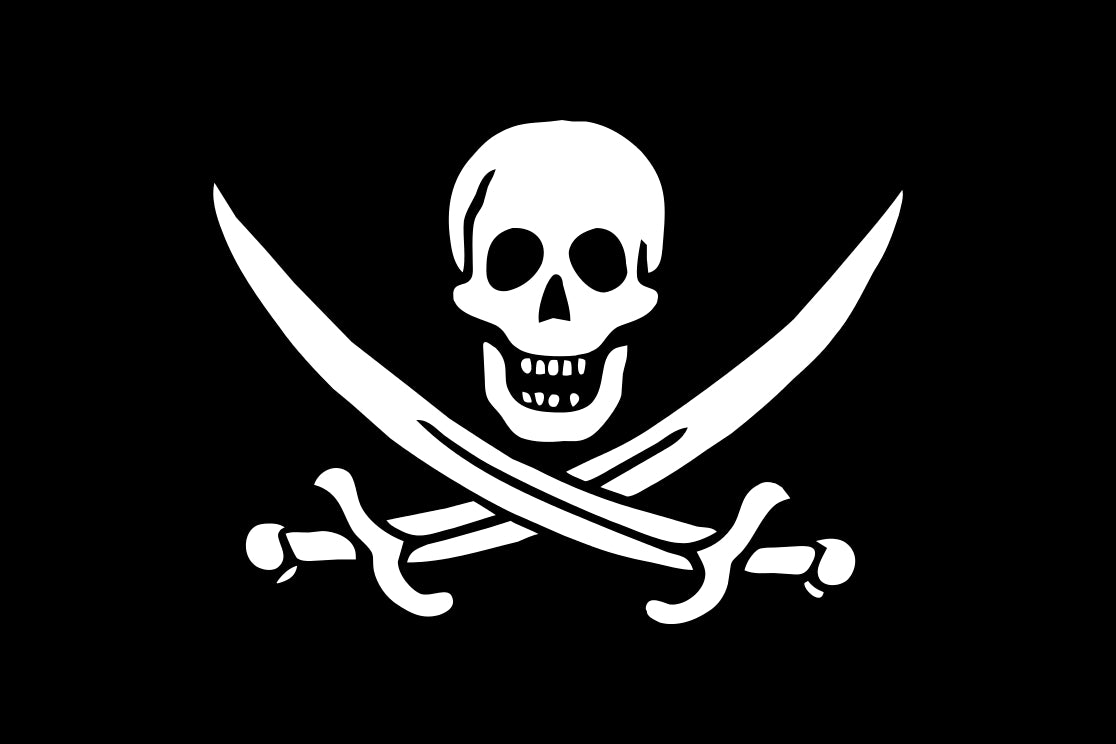tamed winds t-shirt shop and blog, jolly roger designed by calisco jack rackham during early 1700s