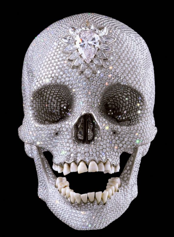 tamed winds t-shirt shop and blog, damien hirst scull with 8601 diamonds worth over 50 million dollars