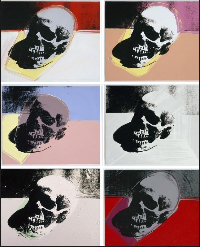 tamed winds t-shirt shop and blog, skulls by andy warhol 1976