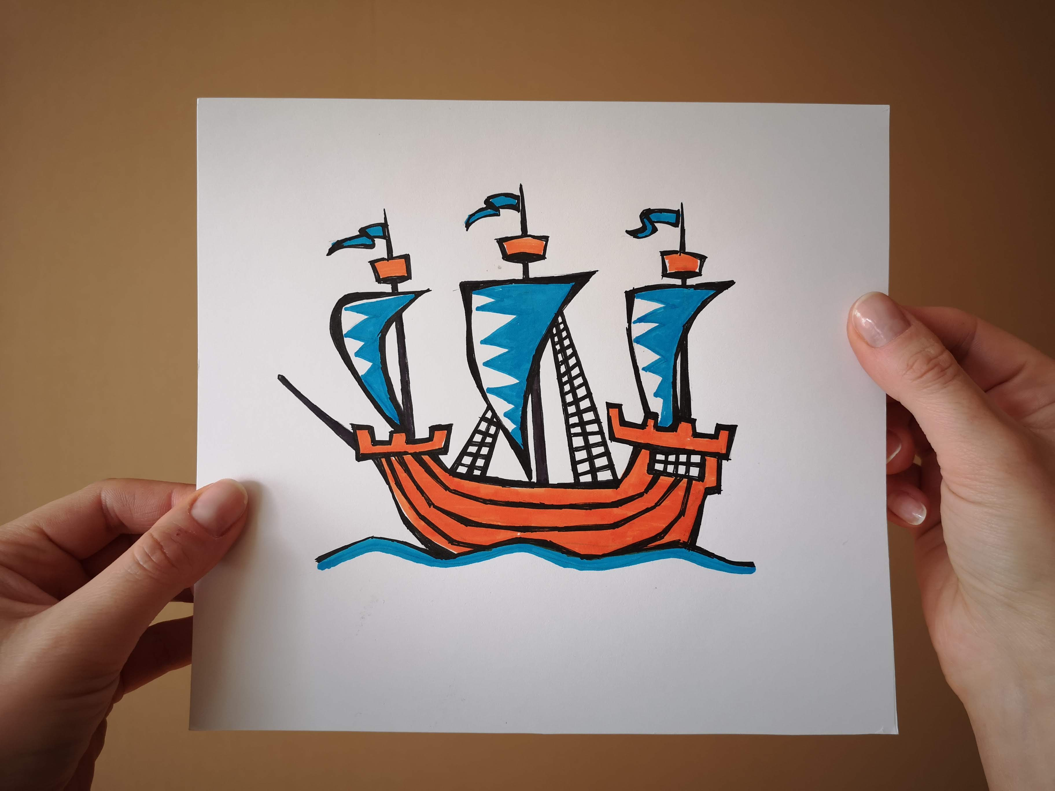 Explorer's Caravele Flagship Collection Ships and Boats Tamed Winds t-shirt shop and sailing blog