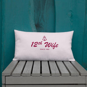 12th Wife Light Grayish Pink Decorative Pillow, Collection Pirate Tales-Tamed Winds-tshirt-shop-and-sailing-blog-www-tamedwinds-com