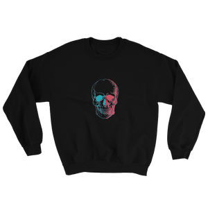 3D Skull Unisex Crewneck Sweatshirt, Collection Jolly Roger-Black-S-Tamed Winds-tshirt-shop-and-sailing-blog-www-tamedwinds-com