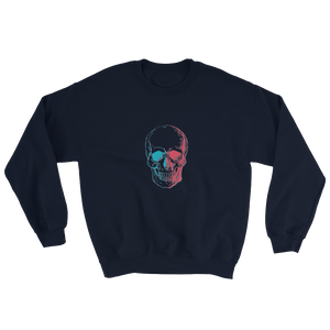 3D Skull Unisex Crewneck Sweatshirt, Collection Jolly Roger-Navy-S-Tamed Winds-tshirt-shop-and-sailing-blog-www-tamedwinds-com