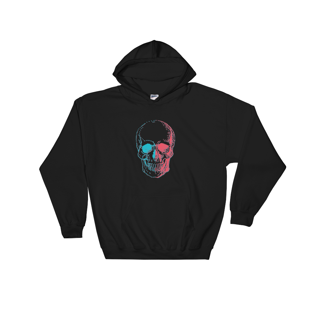 3D Skull Unisex Hooded Sweatshirt, Collection Jolly Roger-Black-S-Tamed Winds-tshirt-shop-and-sailing-blog-www-tamedwinds-com