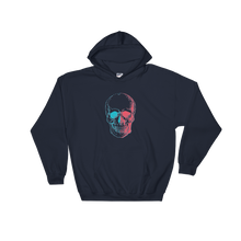 3D Skull Unisex Hooded Sweatshirt, Collection Jolly Roger-Navy-S-Tamed Winds-tshirt-shop-and-sailing-blog-www-tamedwinds-com