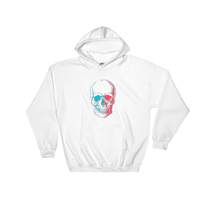 3D Skull Unisex Hooded Sweatshirt, Collection Jolly Roger-White-S-Tamed Winds-tshirt-shop-and-sailing-blog-www-tamedwinds-com
