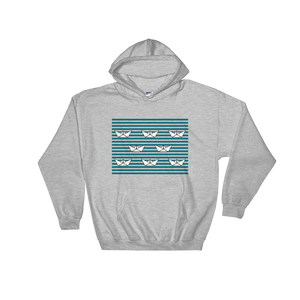 8 Paper Boats Unisex Hooded Sweatshirt, Collection Origami Boat-Sport Grey-S-Tamed Winds-tshirt-shop-and-sailing-blog-www-tamedwinds-com