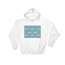 8 Paper Boats Unisex Hooded Sweatshirt, Collection Origami Boat-White-S-Tamed Winds-tshirt-shop-and-sailing-blog-www-tamedwinds-com