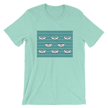 8 Paper Boats Unisex T-Shirt, Collection Origami Boat-Heather Mint-S-Tamed Winds-tshirt-shop-and-sailing-blog-www-tamedwinds-com