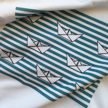 8 Paper Boats Unisex T-Shirt, Collection Origami Boat-Tamed Winds-tshirt-shop-and-sailing-blog-www-tamedwinds-com