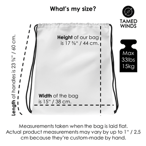 Drawstring Bag-Sizing-Tamed Winds-tshirt-shop-and-sailing-blog-www-tamedwinds-com