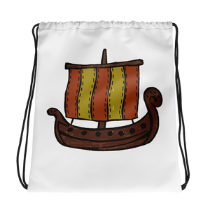 Ancient Greek Odysseus Ship Drawstring Bag, Collection Ships & Boats-Tamed Winds-tshirt-shop-and-sailing-blog-www-tamedwinds-com