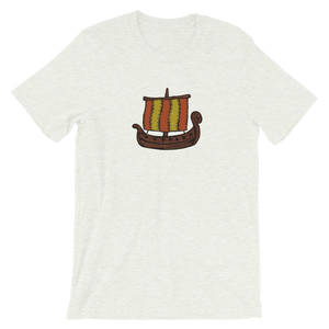Ancient Greek Odysseus Ship Unisex T-Shirt, Collection Ships & Boats-Ash-S-Tamed Winds-tshirt-shop-and-sailing-blog-www-tamedwinds-com