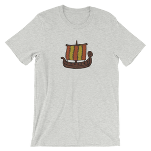 Ancient Greek Odysseus Ship Unisex T-Shirt, Collection Ships & Boats-Athletic Heather-S-Tamed Winds-tshirt-shop-and-sailing-blog-www-tamedwinds-com