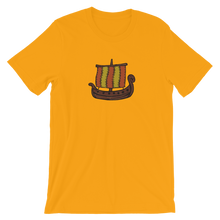 Ancient Greek Odysseus Ship Unisex T-Shirt, Collection Ships & Boats-Gold-S-Tamed Winds-tshirt-shop-and-sailing-blog-www-tamedwinds-com