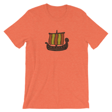 Ancient Greek Odysseus Ship Unisex T-Shirt, Collection Ships & Boats-Heather Orange-S-Tamed Winds-tshirt-shop-and-sailing-blog-www-tamedwinds-com