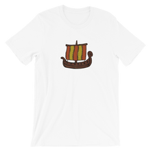 Ancient Greek Odysseus Ship Unisex T-Shirt, Collection Ships & Boats-White-XS-Tamed Winds-tshirt-shop-and-sailing-blog-www-tamedwinds-com