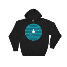 Big Dipper Unisex Hooded Sweatshirt, Collection Fjaka-Black-S-Tamed Winds-tshirt-shop-and-sailing-blog-www-tamedwinds-com