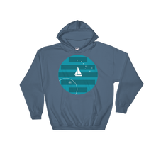 Big Dipper Unisex Hooded Sweatshirt, Collection Fjaka-Indigo Blue-S-Tamed Winds-tshirt-shop-and-sailing-blog-www-tamedwinds-com