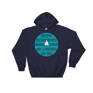 Big Dipper Unisex Hooded Sweatshirt, Collection Fjaka-Navy-S-Tamed Winds-tshirt-shop-and-sailing-blog-www-tamedwinds-com