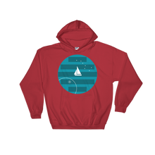 Big Dipper Unisex Hooded Sweatshirt, Collection Fjaka-Red-S-Tamed Winds-tshirt-shop-and-sailing-blog-www-tamedwinds-com