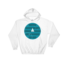 Big Dipper Unisex Hooded Sweatshirt, Collection Fjaka-White-S-Tamed Winds-tshirt-shop-and-sailing-blog-www-tamedwinds-com