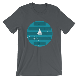 Big Dipper Unisex T-Shirt, Collection Fjaka-Asphalt-S-Tamed Winds-tshirt-shop-and-sailing-blog-www-tamedwinds-com