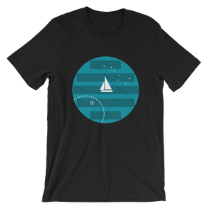 Big Dipper Unisex T-Shirt, Collection Fjaka-Black-S-Tamed Winds-tshirt-shop-and-sailing-blog-www-tamedwinds-com